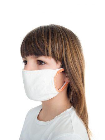 Hibrid maszk, Gyermek méret, 3 rétegű, antimikrobiális hatású ezüstionokkal,  1db/csomag.