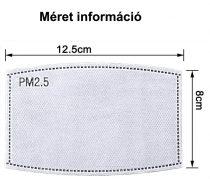 Antimikrobiális PM2.5 Ötrétegű, aktívszenes szűrőfilter textil szájmaszkokhoz